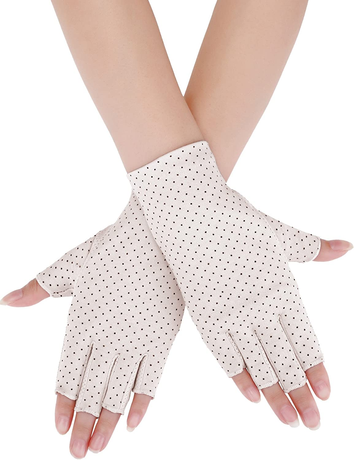 Womens Uv Protection Driving Glove Sun Block Glove Touch Screen Cotton Non-slip