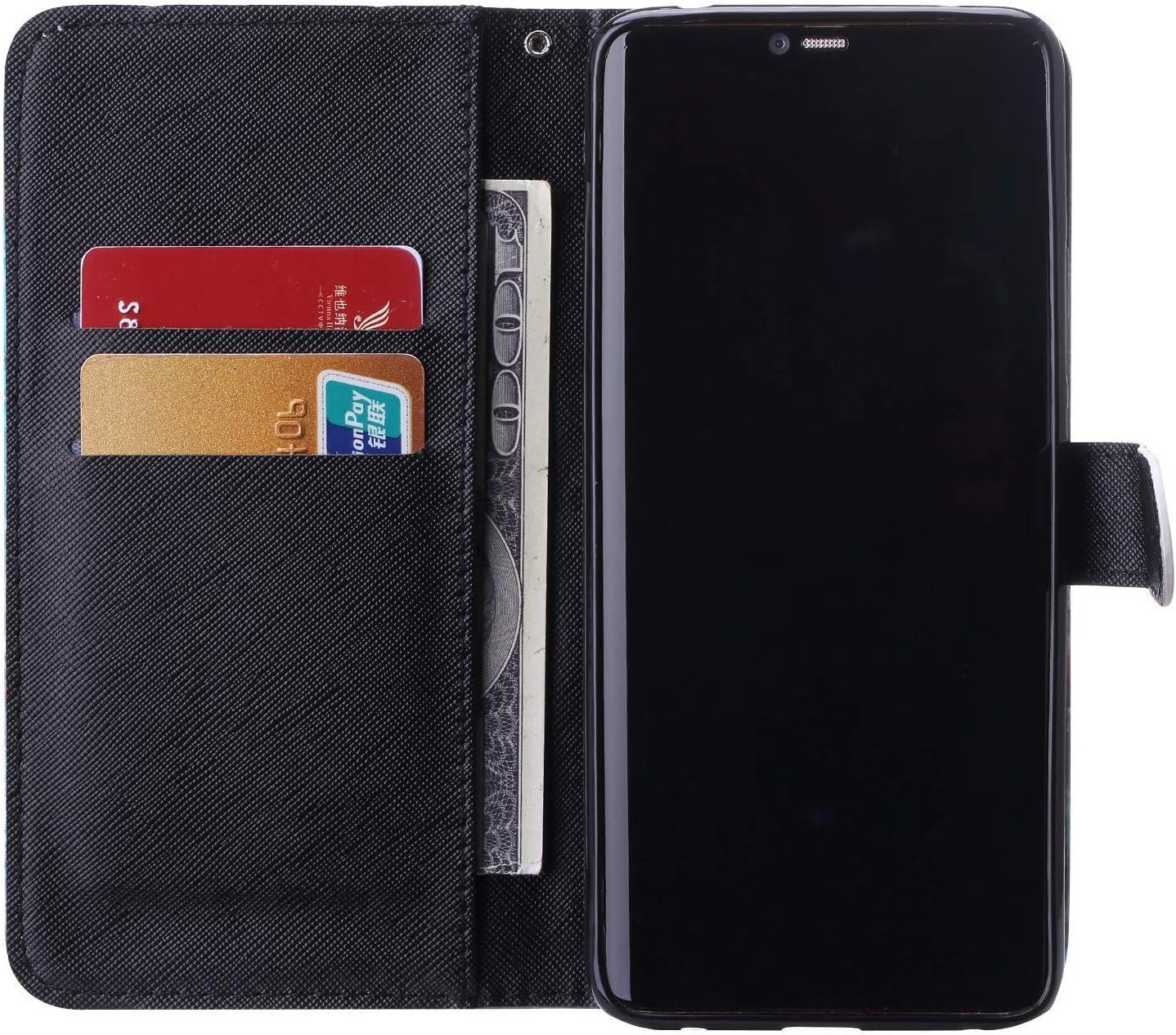 Saceebe Compatible avec Samsung Galaxy S10 Housse de t/él/éphone Housse Etui Portefeuille Cuir Coque Brillante Bling Glitter 3D Motif Folio Stand Pochette Wallet Coque,Animaux Anim/é