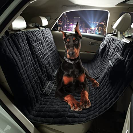 Amazon.com : VIEWPETS Dog Car Seat Cover Waterproof Non-slip Pet ...