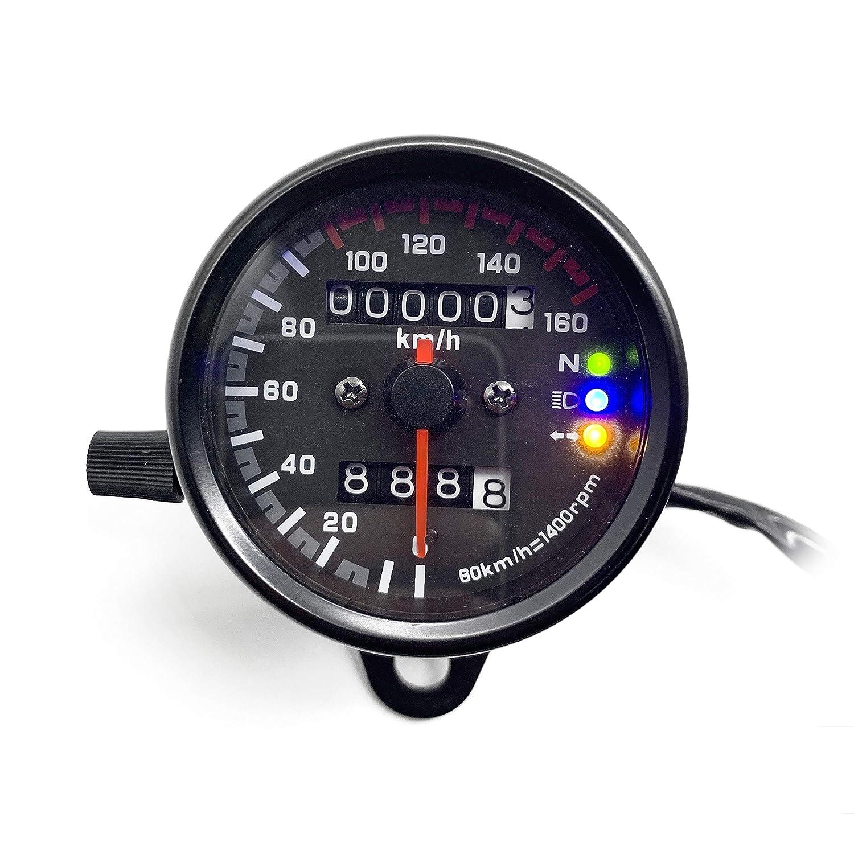 SFONIA Moto Odom/ètre LED Compteur de Vitesse Num/érique Jauge de R/étro/éclairage Signal de Lumi/ère Universel pour Moto Scooter Quad Cruiser Off Road