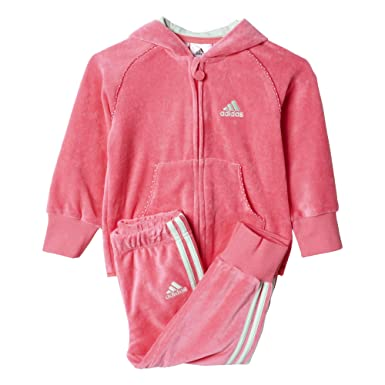 adidas I J G Vel Suit - Chándal para niños, Color Rosa/Blanco ...
