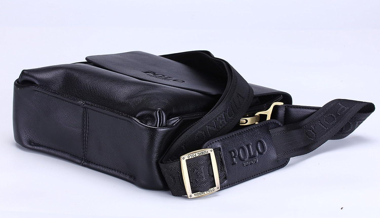 VIDENG POLO® Newest RFID Blocking Secure Men s Leather Briefcase Shoulder  Messenger Bag (Black-V2)  Amazon.co.uk  Garden   Outdoors 17fc25ed764ee