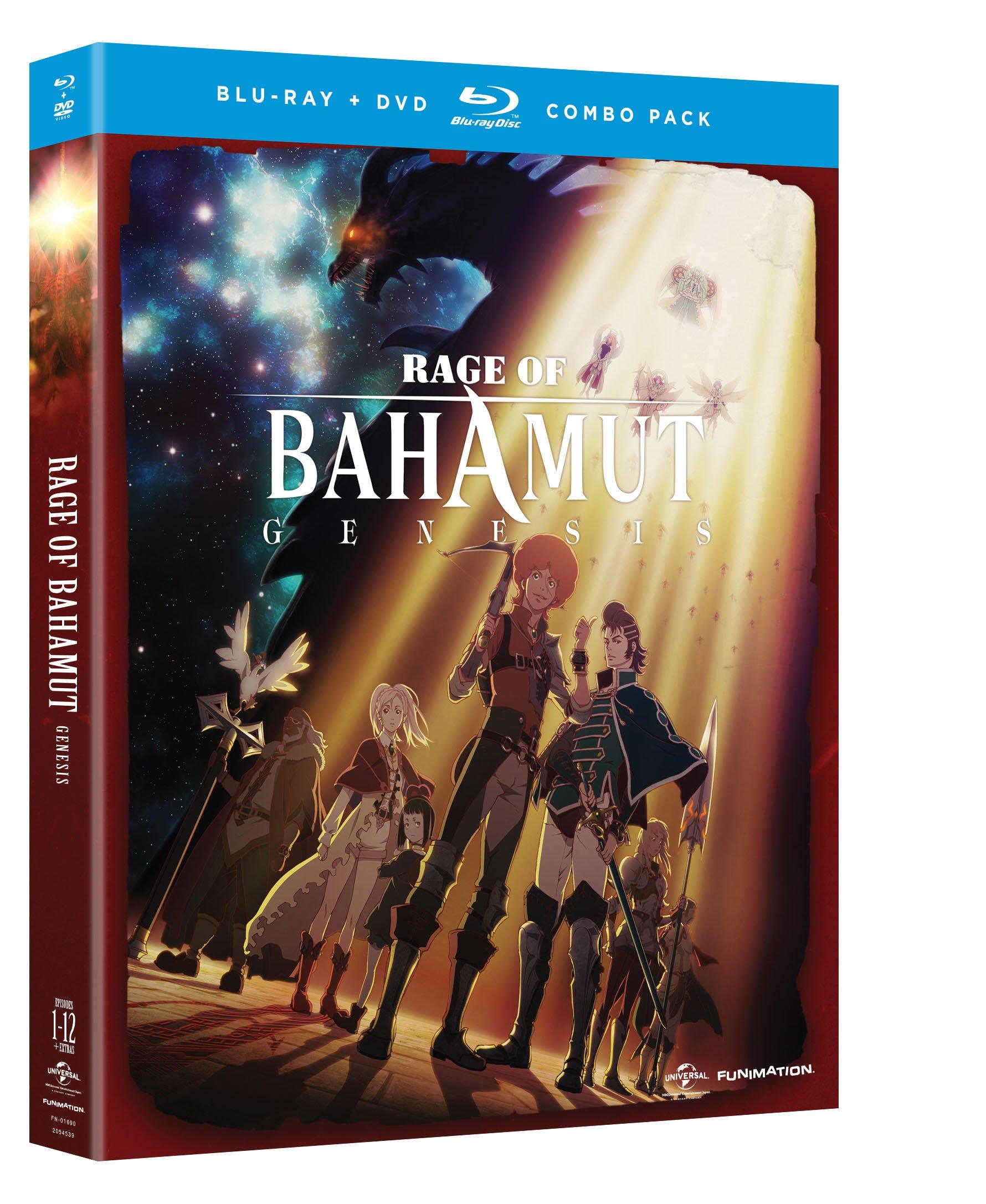 Blu-ray : Rage of Bahamut: Genesis - Season One (With DVD, 4 Disc)