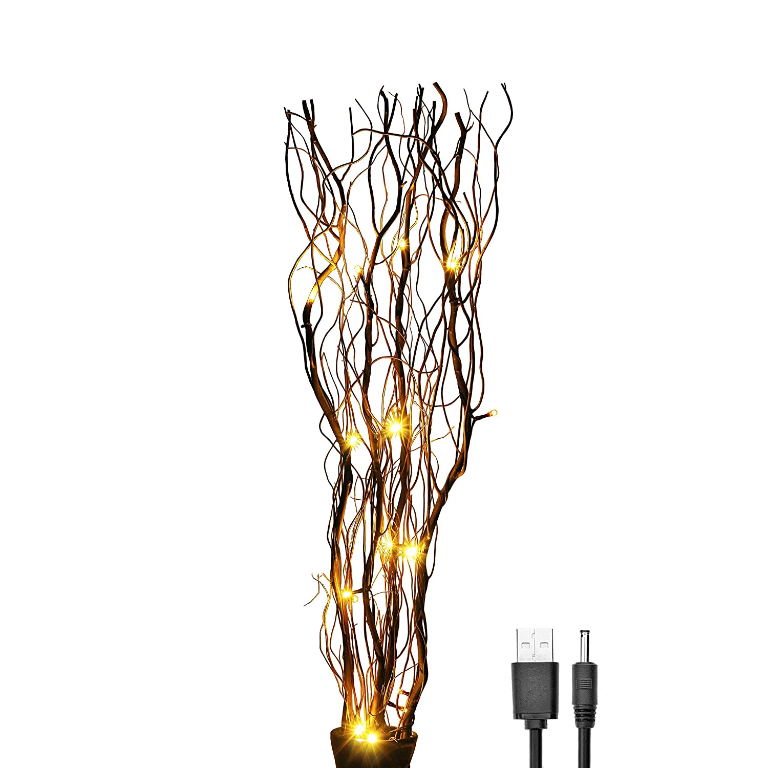Natural Twig Lighted Branch 16 Led Wooden Home Decor