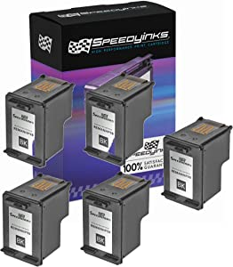 Speedy Inks Remanufactured Ink Cartridge Replacement for HP 98 (Vivera Black, 5-Pack)