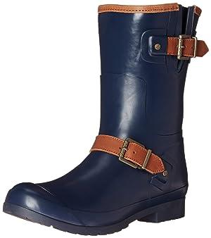 Sperry Top-Sider Women's Walker Fog NY Rain Boot, Navy, 8 M US