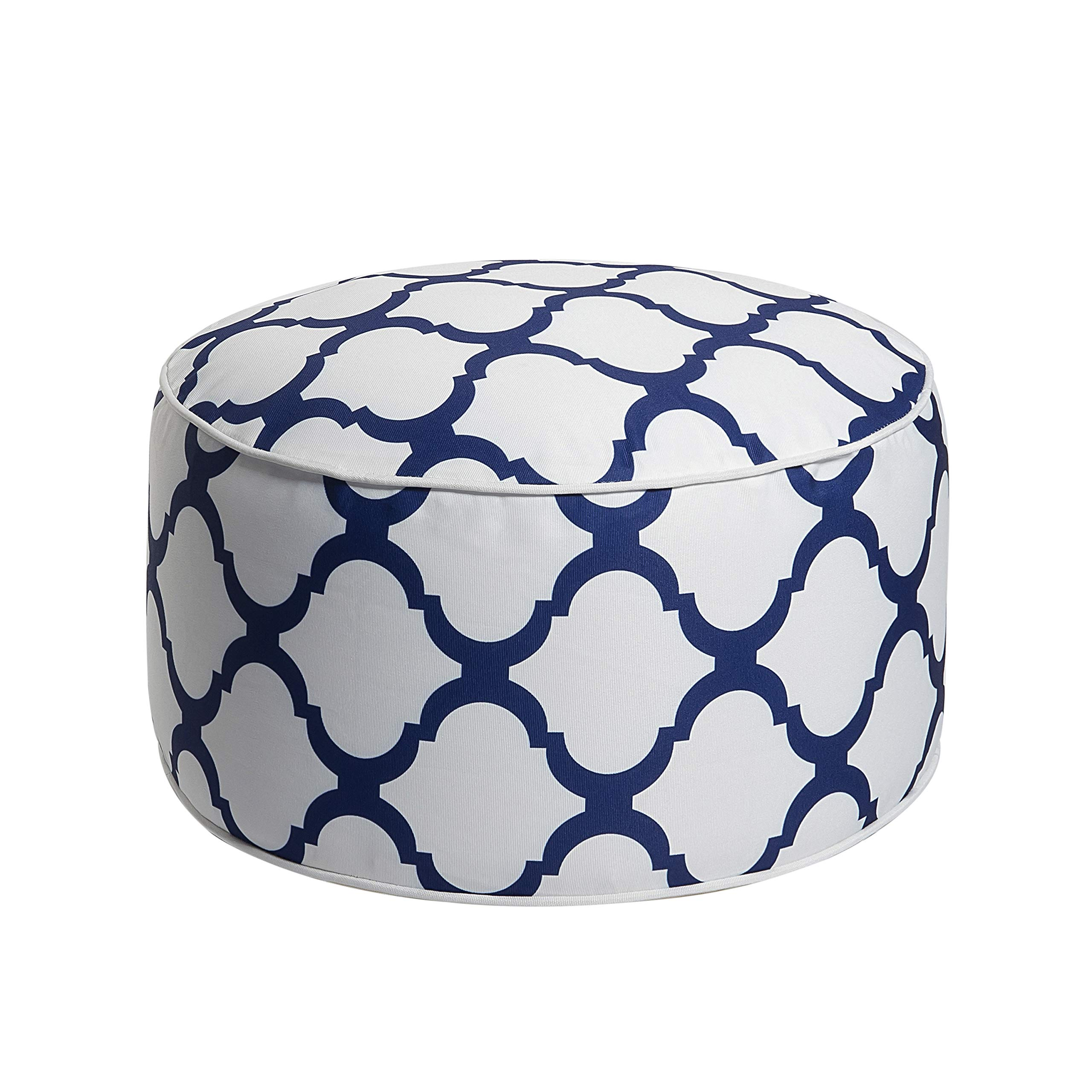 Art Leon Outdoor Inflatable Ottoman White Round Patio Footstool for Kids and Adults, Patio, Deck, Front Porch, Backyard, Garden