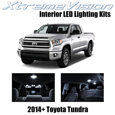 XtremeVision Interior LED for Toyota Tundra 2014+ (14 Pieces) Pure White Interior LED Kit + Installation Tool: Automotive