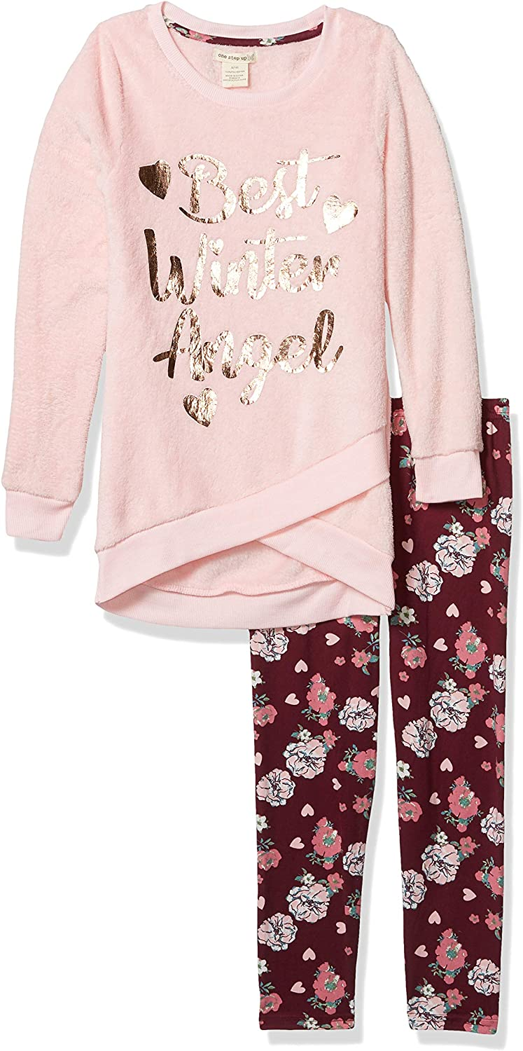 One Step Up Girls Fleece Top and Legging Set