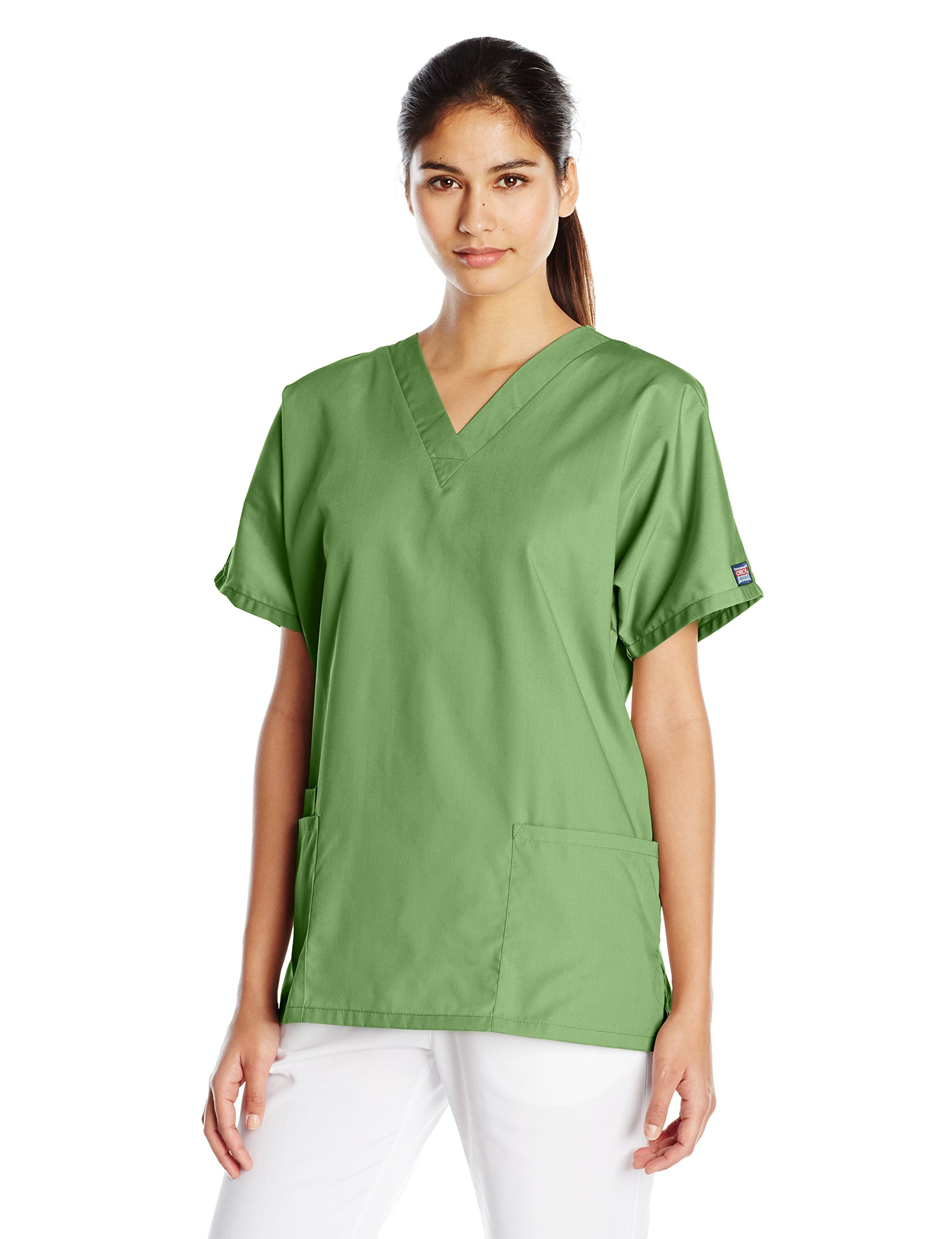 Cherokee Women's V Neck Scrubs Shirt, Aloe, X-Large by Cherokee