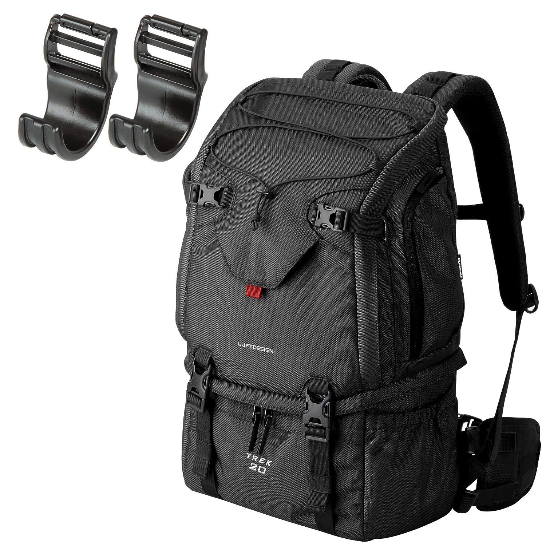 HAKUBA カメラリュック ルフトデザイン トレック20 ブラック + 首の負担がZEROフック セット B0765T5YZD ブラック