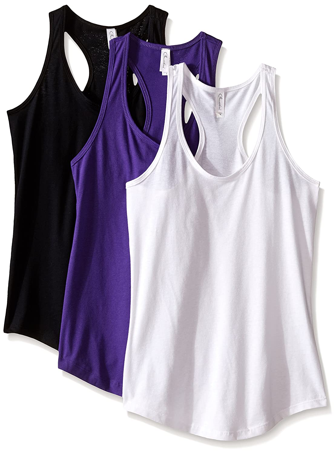 Clementine Women's Ideal Racerback Tank (Pack of 3) Clementine Womens Child Code 3-CLM1533