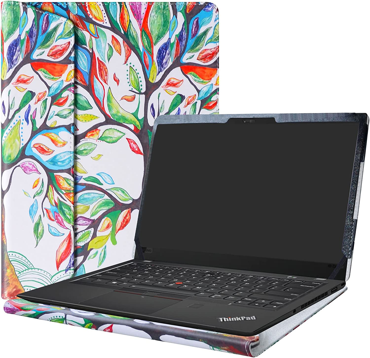 "Alapmk Protective Case Cover For 14"" Lenovo Thinkpad X1 Carbon 7th Gen/6th Gen/5th Gen & ThinkPad X1 Yoga 4th gen Laptop(Note:Not fit Thinkpad X1 Carbon 1st Gen/2nd Gen/3rd Gen/4th Gen),Love Tree"