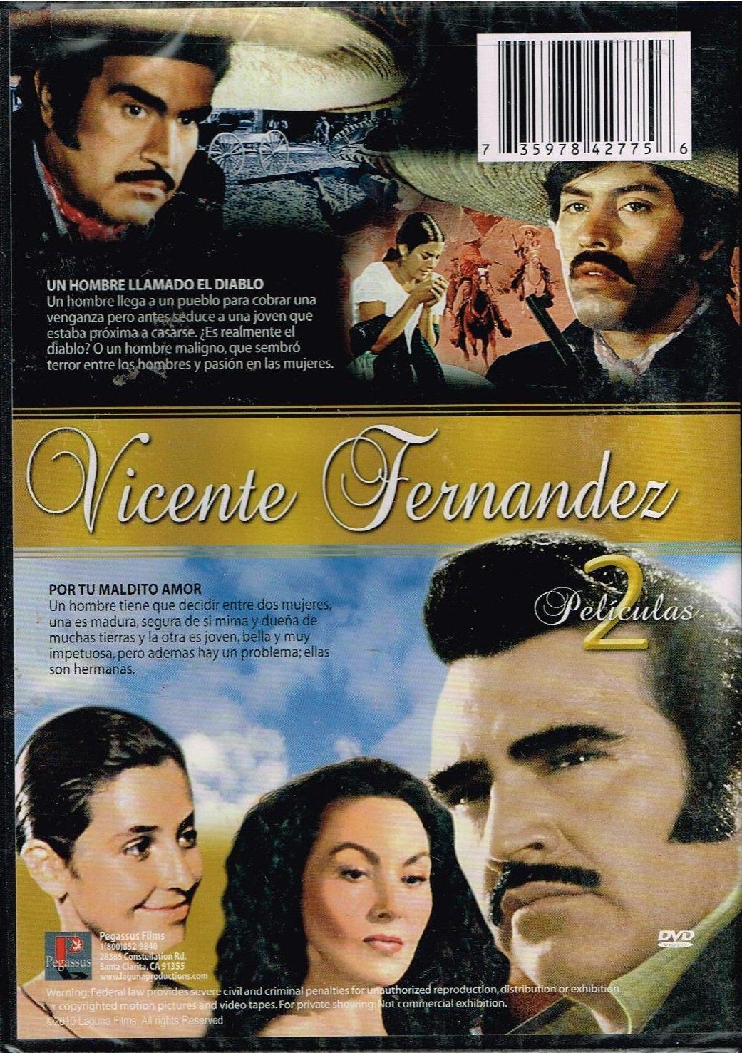 Vicente Fernandez 2 Peliculas Un Hombre Llamado El Diablo Por Tu Maildito Amor Cine Y Tv