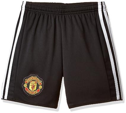 22479bdb58a Amazon.com  adidas 2017-2018 Man Utd Home Shorts Black (Kids ...