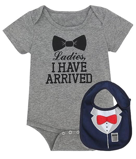Amazon.com: iCrazy - Body para bebé con babero: Clothing