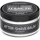 American Shaving After Shave Balm For Men (4oz) - Original Masculine Scent - 100% Natural Fast Absorbing Moisturizing Lotion - Best Grooming Product to Refresh, Soothe, and Hydrate Dry Skin Post Shave