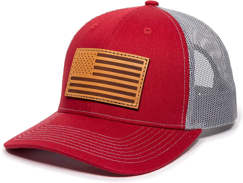 30-287XX-USA-FLAG-TBL xxl Oversize Thin Blue Line usa Flag Patch Mesh Back Trucker Baseball Cap