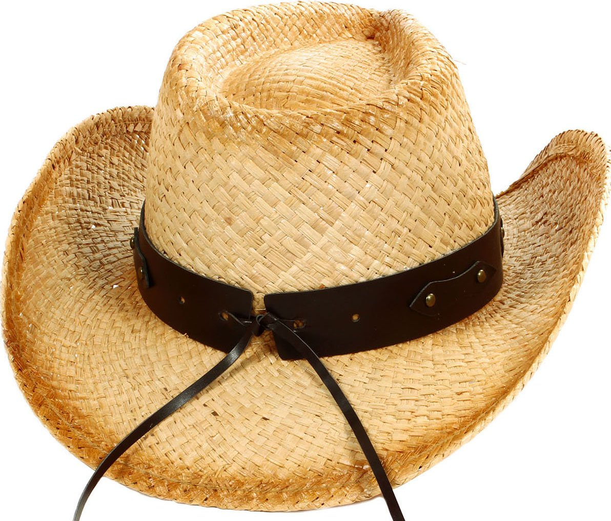 YoungLove Men and Women Costume Straw Cowboy Hat with Decor,Nature_Bull by YoungLove (Image #3)