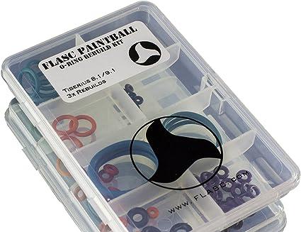 Tiberius T 8.1//9.1/3/x Code couleur Paintball Joint torique Rebuild kit par Flasc Paintball