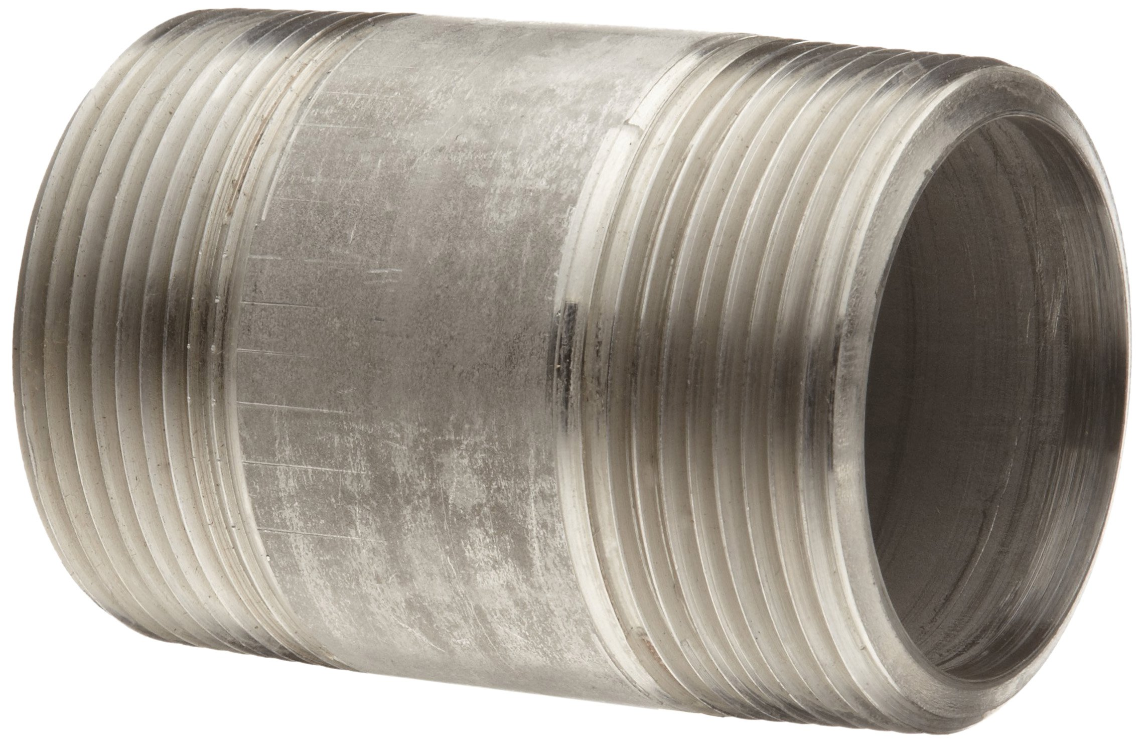Stainless Steel 304/304L Pipe Fitting, Nipple, Schedule 80 Seamless Extra Heavy, 1/2'' X 1-1/2'' NPT Male
