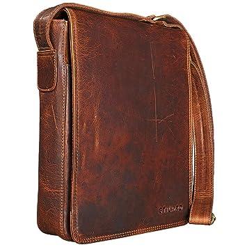 11c50ade52b03 STILORD  Joris  Umhängetasche Leder mittelgroß Vintage Messenger Bag für 10