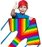 Sun Kites Rainbow Kite for Kids - Great for Beginners - Very Easy to Fly