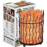 Himalayan Glow 1332 Piller Salt Basket Lamp, 6-8 lbs, Amber Glow