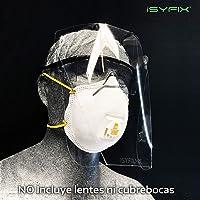 Careta Protectora Facial, Protector Facial Ajustable, Visor de Protección Resistente a Fluidos, Máscara Transparente, Protege boca, nariz y ojos contra Saliva, Salpicaduras y Partículas. Para Hombres, Mujeres y Niños.