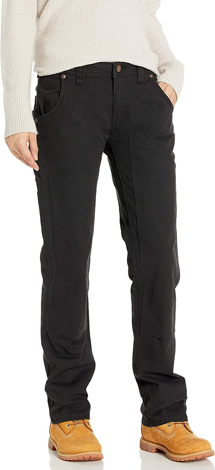 Dickies Womens Relaxed Straight Stretch Duck Double-Front Carpenter Pant