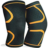 1 Pair Knee Brace Support Compression Sleeves Wraps Pads for Arthritis Running Pain Relief Injury Recovery BasketBall/FootBall