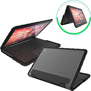 Gumdrop DropTech Case Designed for Lenovo 300e Gen 1 Chromebook Laptop for K-12 Students, Teachers, Kids - Black, Rugged, Shock Absorbing, Extreme Drop Protection