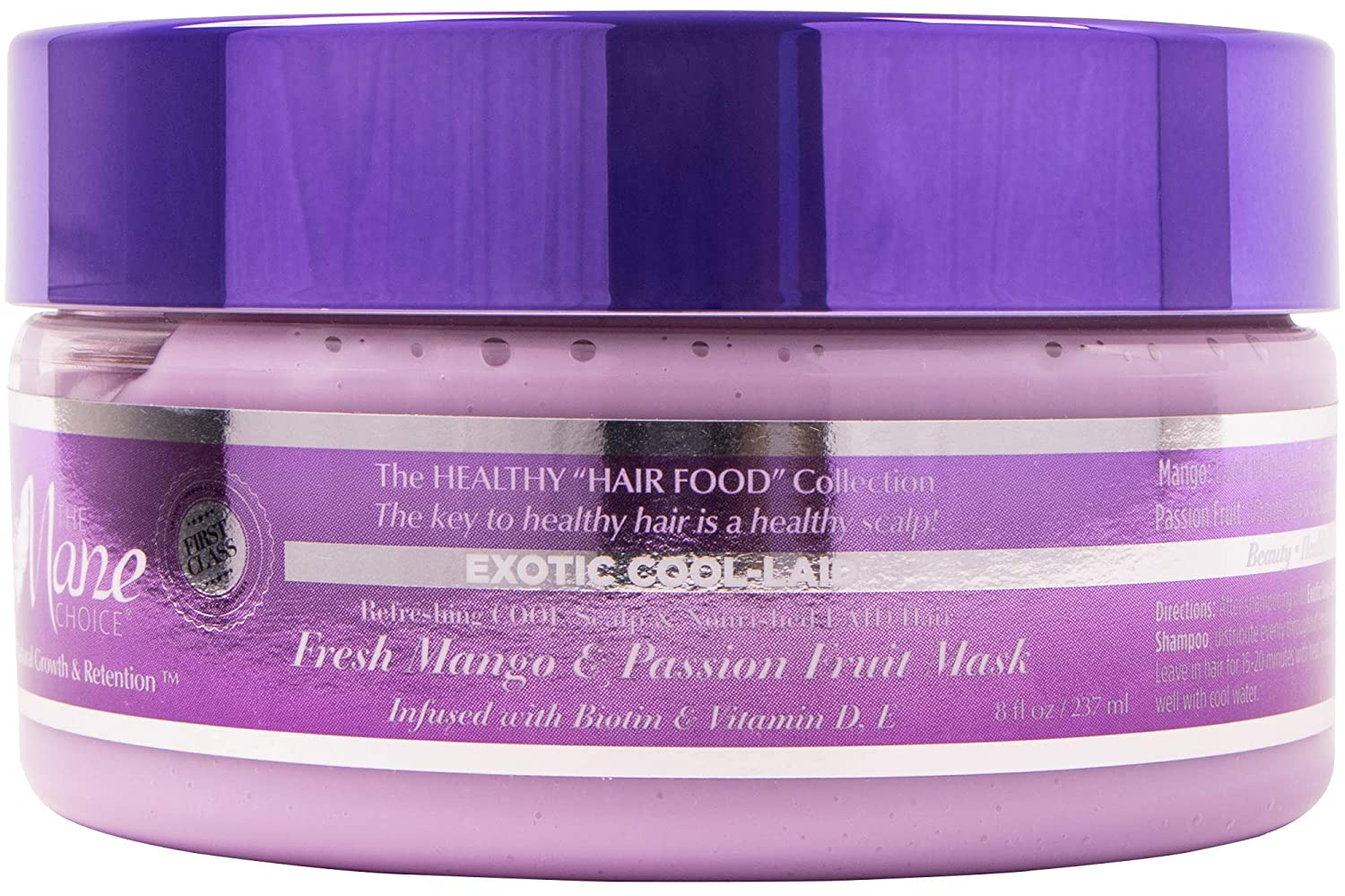 THE MANE CHOICE - Exotic Cool-Laid Fresh Mango & Passion Fruit Healthy Hair Food Conditioning Mask ( 8 Ounces / 236 Milliliters )