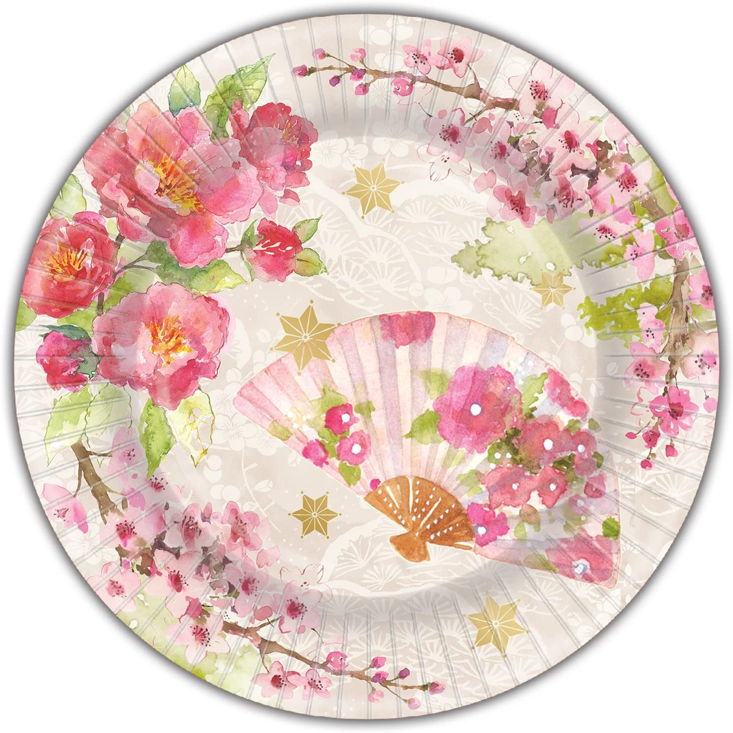 Punch Studio 45963 Chinoiserie Garden Pink Dinner Plate One Size