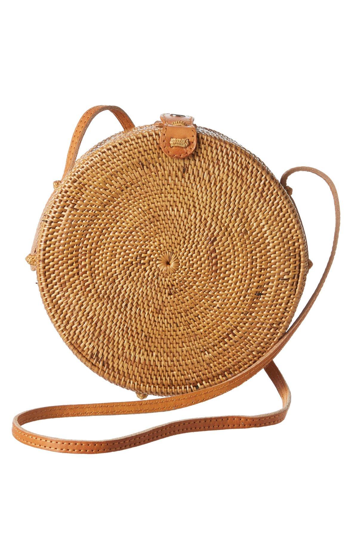 Faithfull the Brand Jana Handmade Round Handbag Natural One