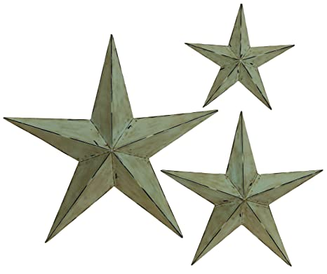 Deco 79 Metal Wall Star 24 Inch 18 And 12