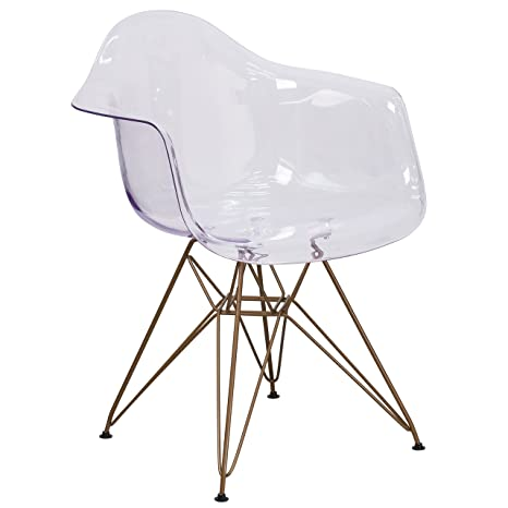 Amazon.com: Flash Muebles Allure Series Transparente Side ...