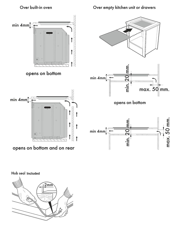 Phönix PI-940 - Placa de inducción empotrada (90 cm, 4 zonas ...