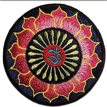 Om Zeichen Om Symbol Blau Rosa Lotus Om Yoga Om Meditation Spiritual