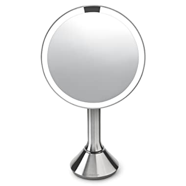 simplehuman 8 , Stainless Steel Sensor Mirror w/Brightness Control, Brushed