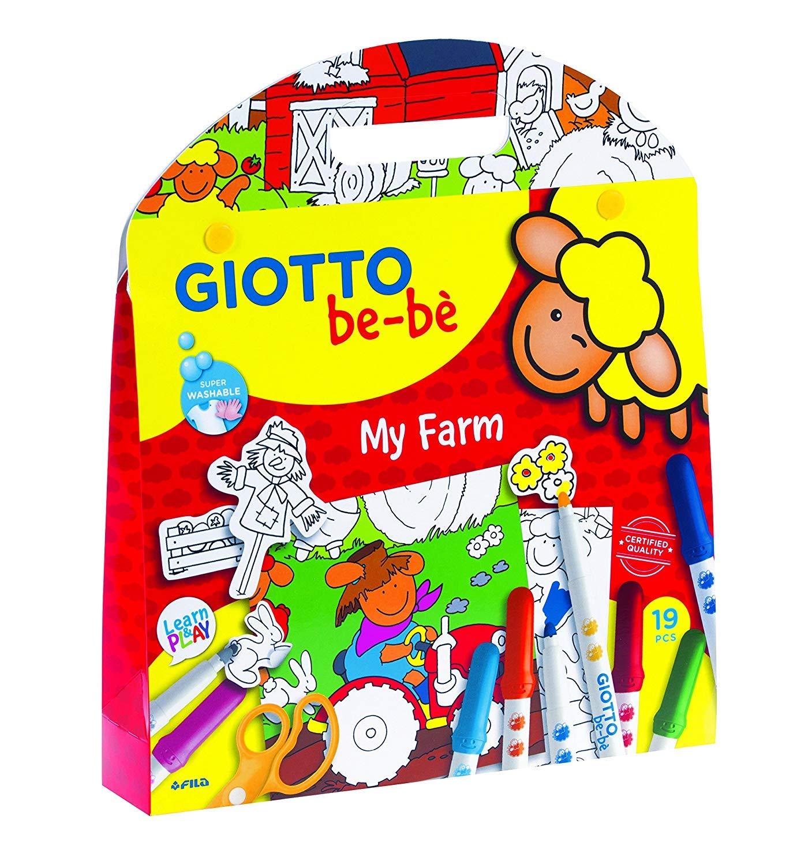 4 x Giotto Bebe My Farm 465600 - Confezione da 4 valigette