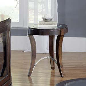 Liberty Furniture Industries Avalon Chair Side Table, W20 x D20 x H24, Dark Brown