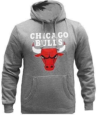 Mitchell & Ness Teamlogo Sweater Men CHICAGO BULLS Grey