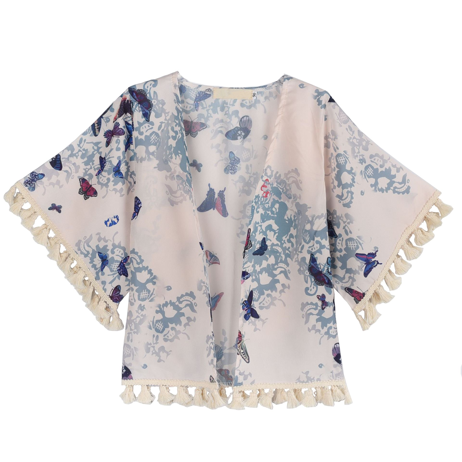 Summer Baby Tassel Chiffon Cardigan Outfits Toddler Kids Girl Kimonos Coats