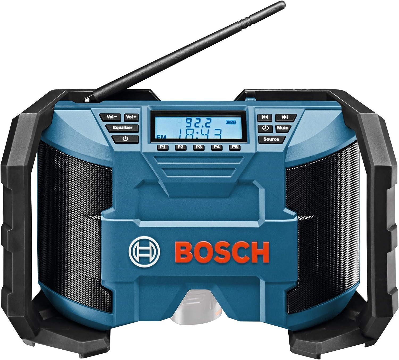 Bosch Professional GPB 12V-10 - Radio a batería para construcción (12 V, doble alimentación, FM/AM, MP3, sin batería, en caja)