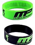MP Beast Mode black and green wrist band combo (Medium)