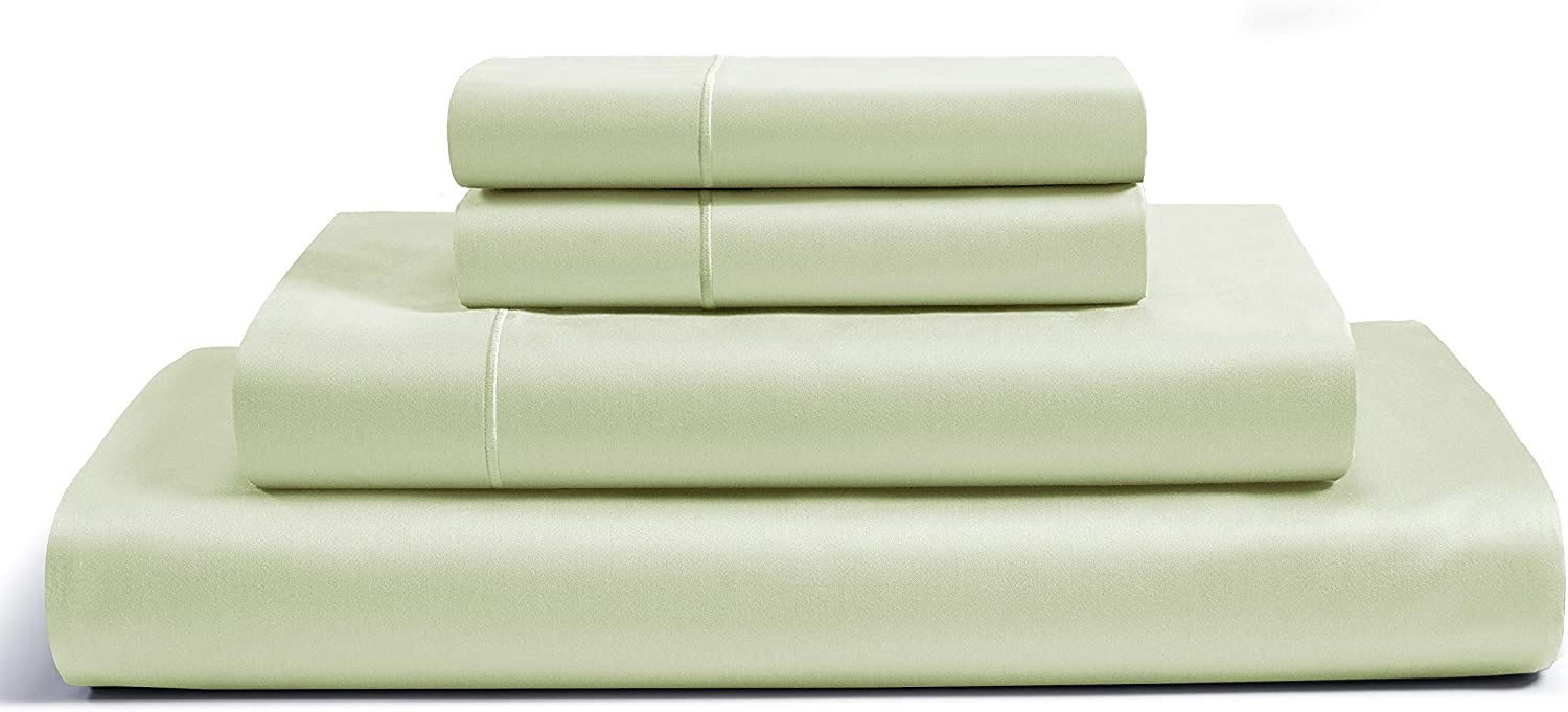 CHATEAU HOME COLLECTION 800-Thread-Count Egyptian Cotton Deep Pocket Sateen Weave Sheet Set, Ultimate Gift; Holiday Sale (King, Sea Foam)