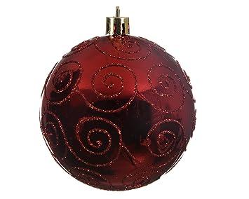 Christbaumkugeln Rot Glänzend.Weihnachtskugeln Rot Elegant 3er Set Glänzend Glitzer