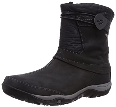 Merrell Women's Dewbrook Zip Waterproof Winter Boot,Black,6 ...