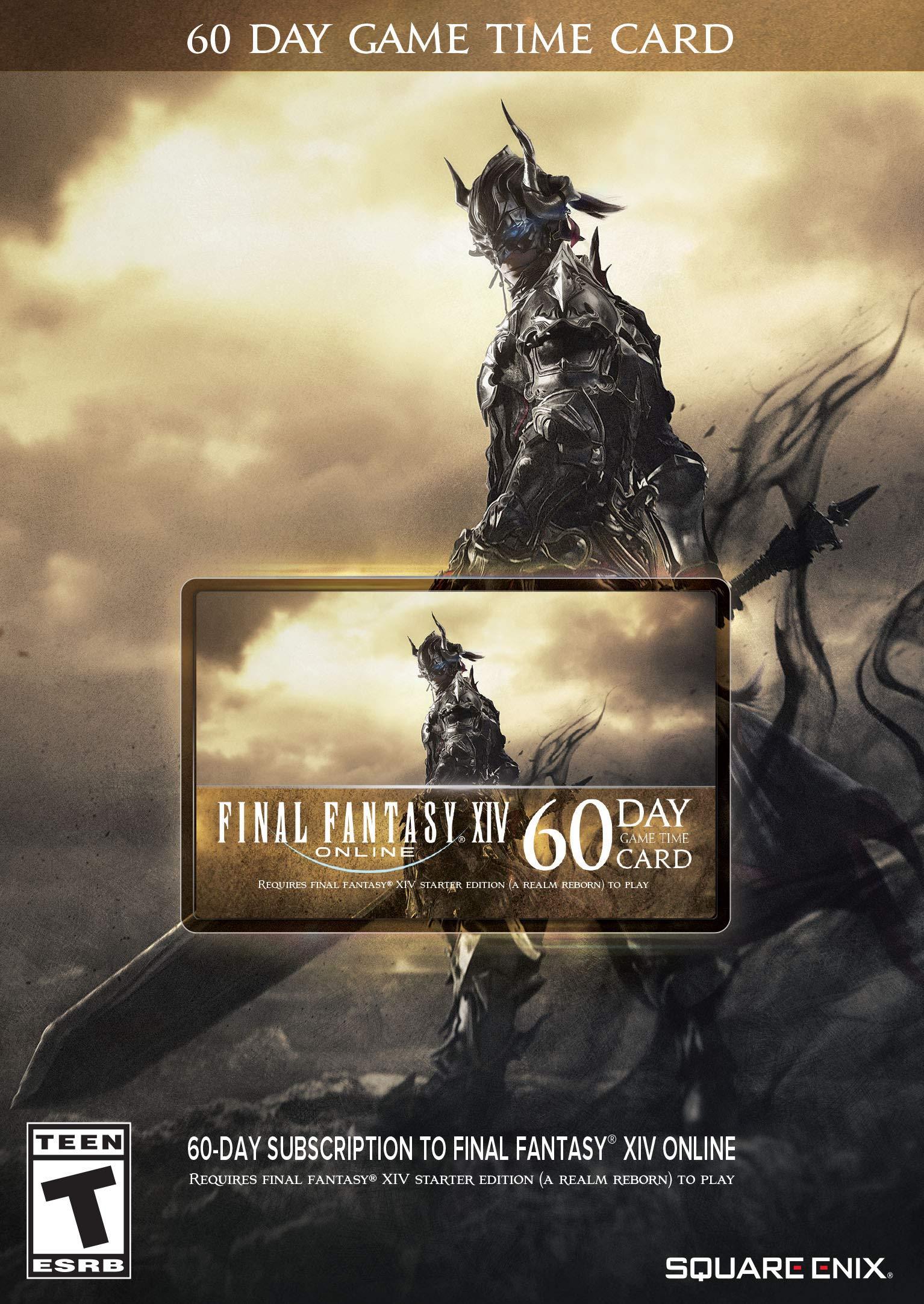 Amazon com: Final Fantasy XIV Online: 60 Day Time Card